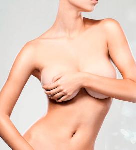 mujer con pechos grandes