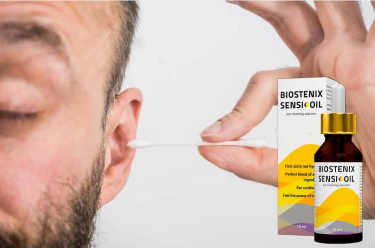 Biostenix Sensi Oil, hombre aclarando sus orejas