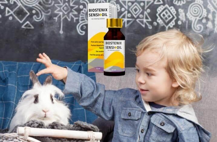 Biostenix Sensi Oil, niño con conejo