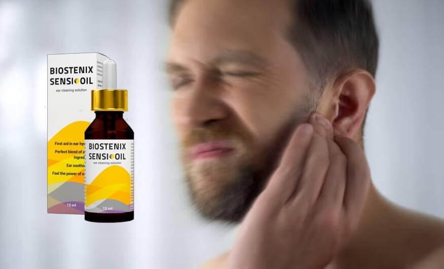 Biostenix Sensi Oil , hombre con dolor en los oidos