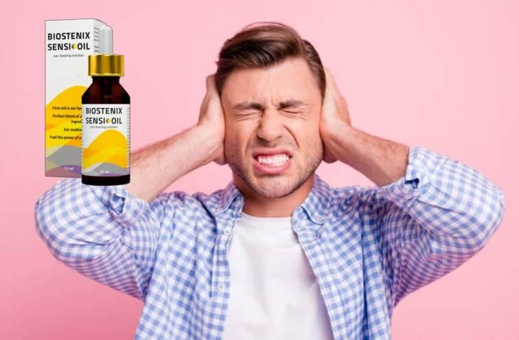 Biostenix Sensi Oil New, hombre con dolor de oido