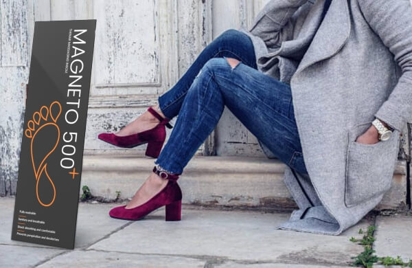 Magneto 500 Plus, mujer con zapatos incomodos