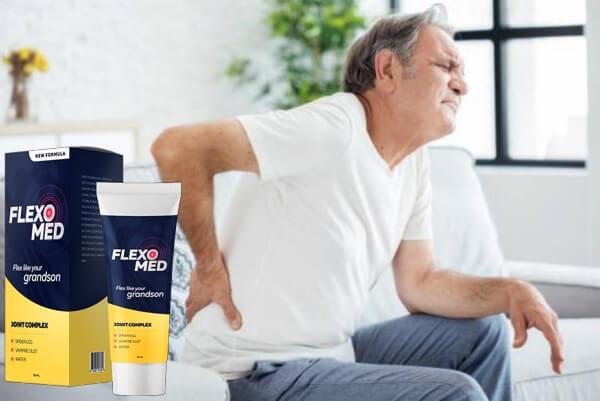 Flexomed, hombre, dolor en las articulaciones