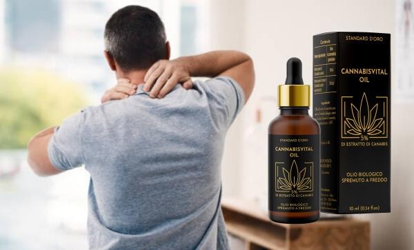 cannabisvital oil gotas, dolor en las articulaciones, calambres, hombre
