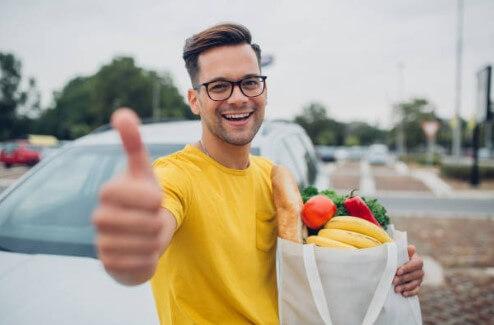 hombre, alimentos, próstata