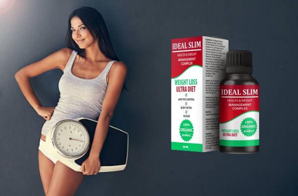 ideal slim gotas, mujer, pérdida de peso