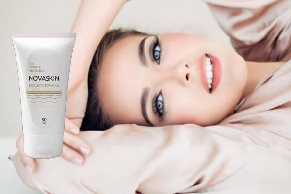 novaskin crema, mujer antienvejecimiento arrugas