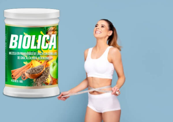 biolica, mujer, pérdida de peso, polvo adelgazante