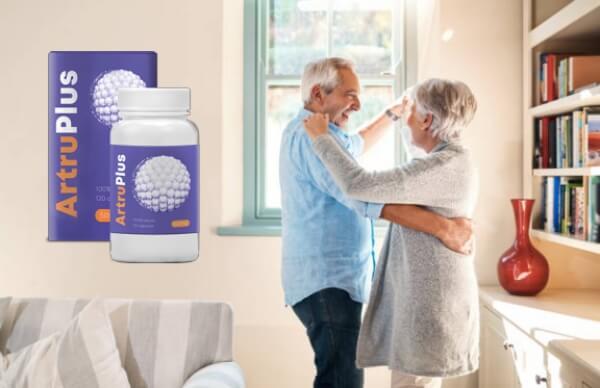 artruplus capsulas, pareja de ancianos bailando