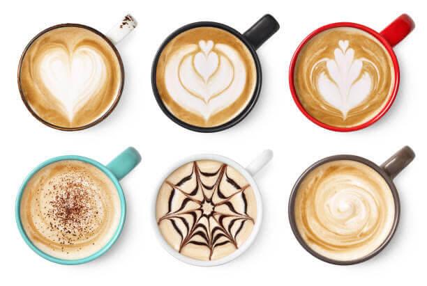 café, tazas, tipos, cafeína