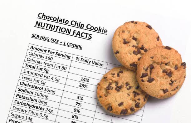 Datos nutricionales, galletas, carbohidratos