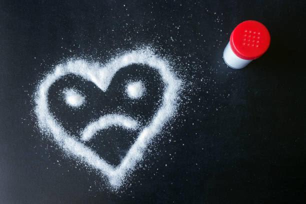 sal, azúcar, corazón