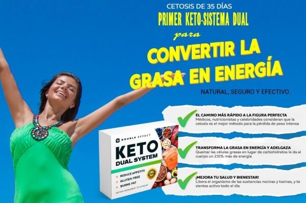 keto dual system capsulas pérdida de peso dieta ceto