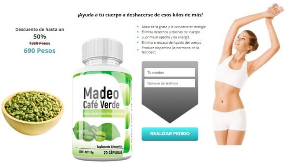 MADEO CAFÉ VERDE CÁPSULAS PRECIO MÉXICO
