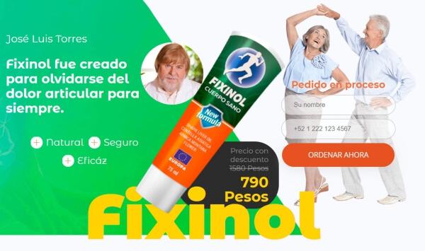Precio Fixinol en México y Perú