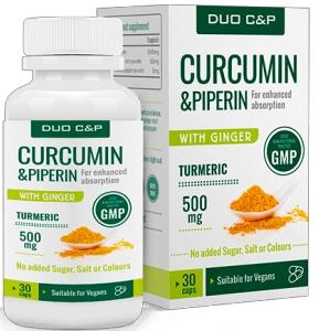 DUO C&P Curcumin Piperin capsulas España