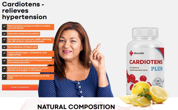 como tomar Cardiotens Plus pastillas
